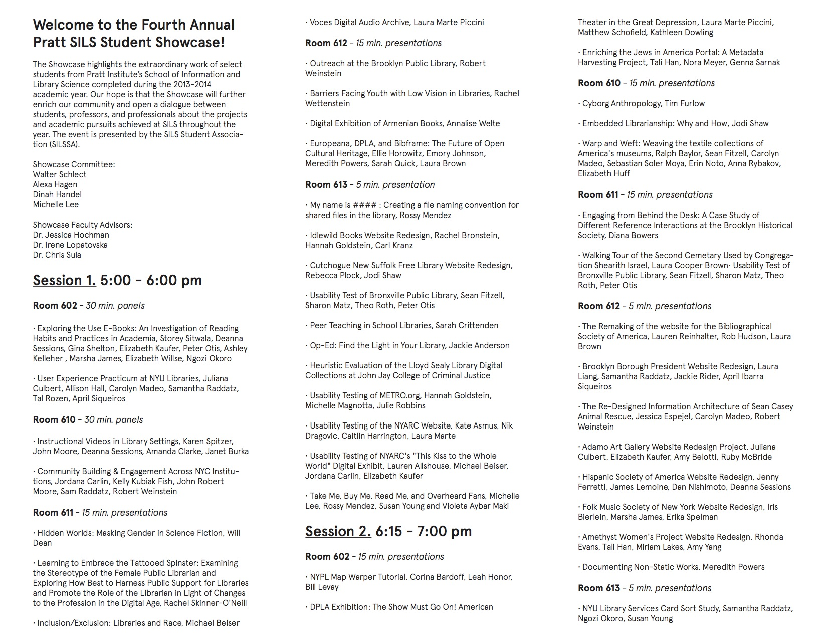 PrattSILSShowcase14Program (1)
