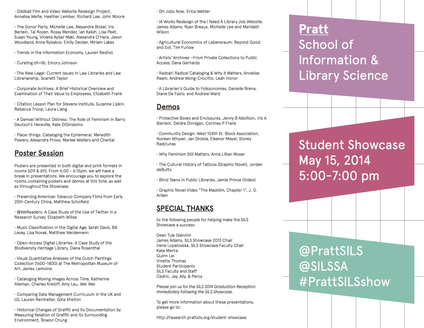 PrattSILSShowcase14Program